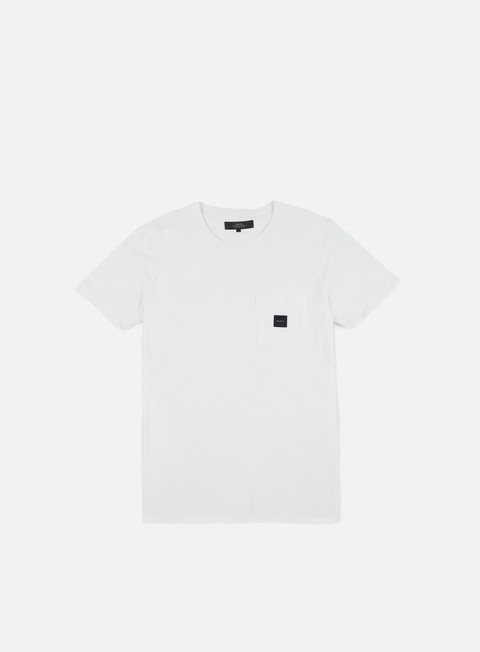 t shirt makia square pocket t shirt white