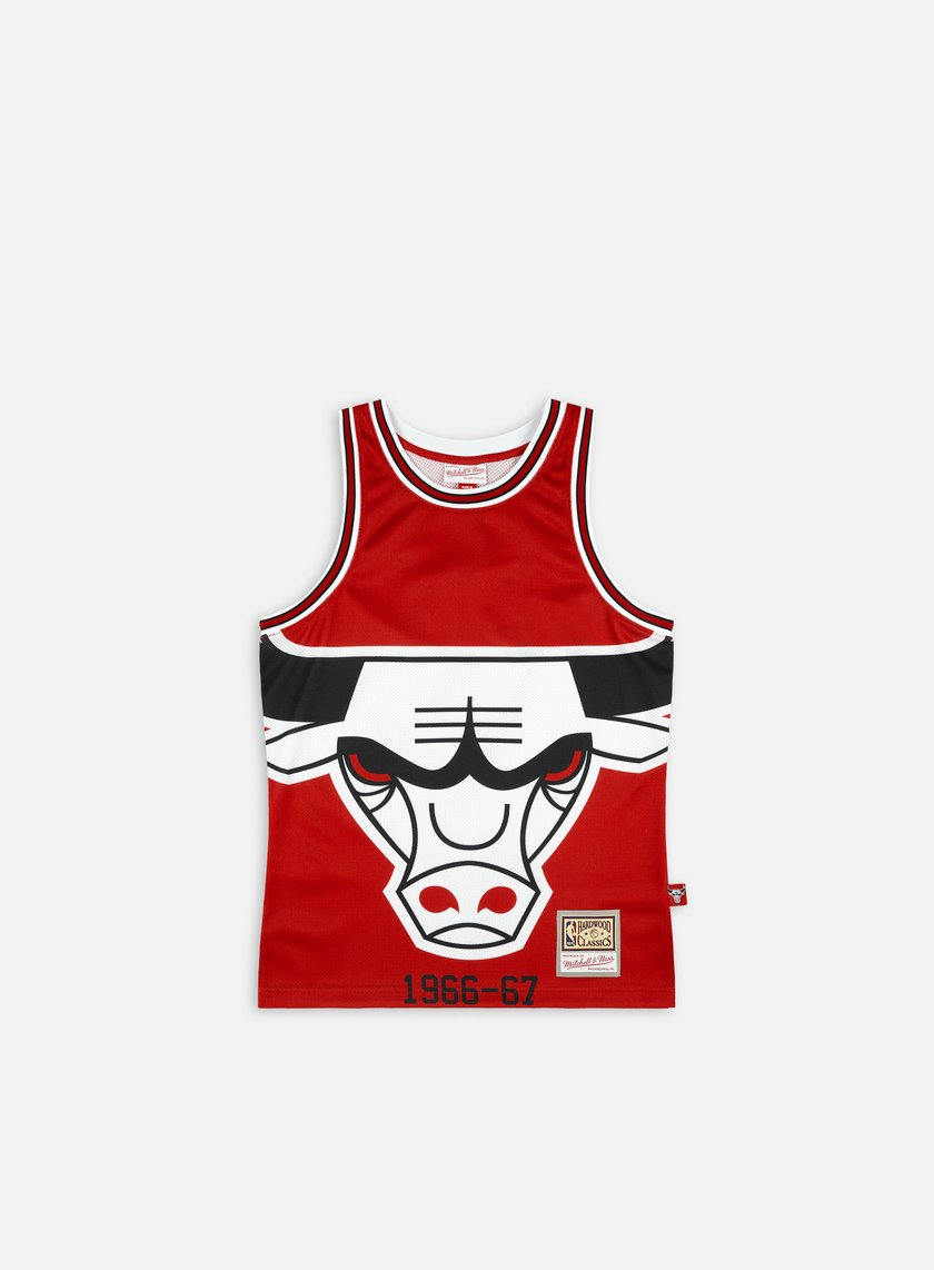 Mitchell & Ness Big Face Blown Out Fashion Jersey Chicago Bulls