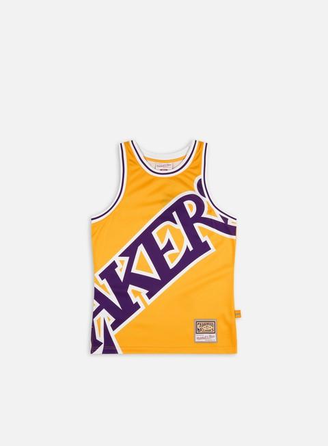 Tank top Mitchell & Ness Big Face Blown Out Fashion Jersey LA Lakers