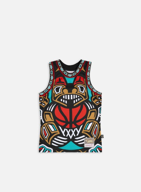 Canotte Mitchell & Ness Big Face Blown Out Fashion Jersey Vancouver Grizzlies