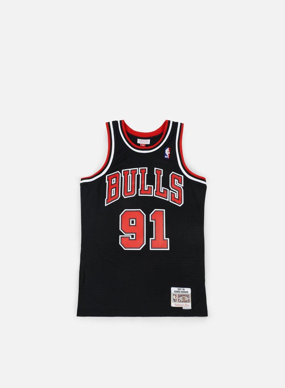 Mitchell & Ness - Chicago Bulls Swingman Jersey Dennis Rodman, Black/Red