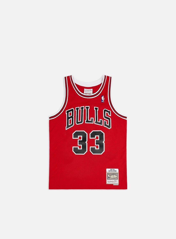 Mitchell & Ness - Chicago Bulls Swingman Jersey Scottie Pippen, Red/Black