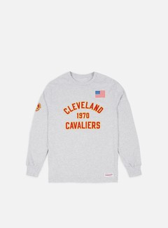 Mitchell & Ness - Estabished Year LS T-shirt Cleveland Cavaliers, Ash Grey 1