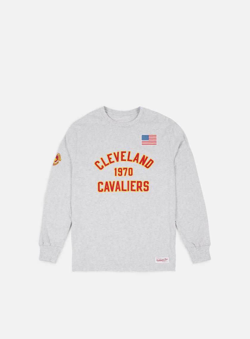 Mitchell & Ness - Estabished Year LS T-shirt Cleveland Cavaliers, Ash Grey