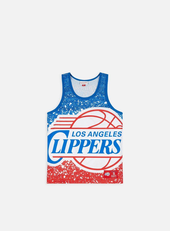 Mitchell & Ness Jumbotron Mesh Tank Top LA Clippers