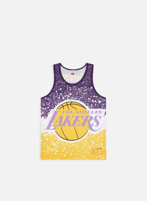 Tank top Mitchell & Ness Jumbotron Mesh Tank Top LA Lakers