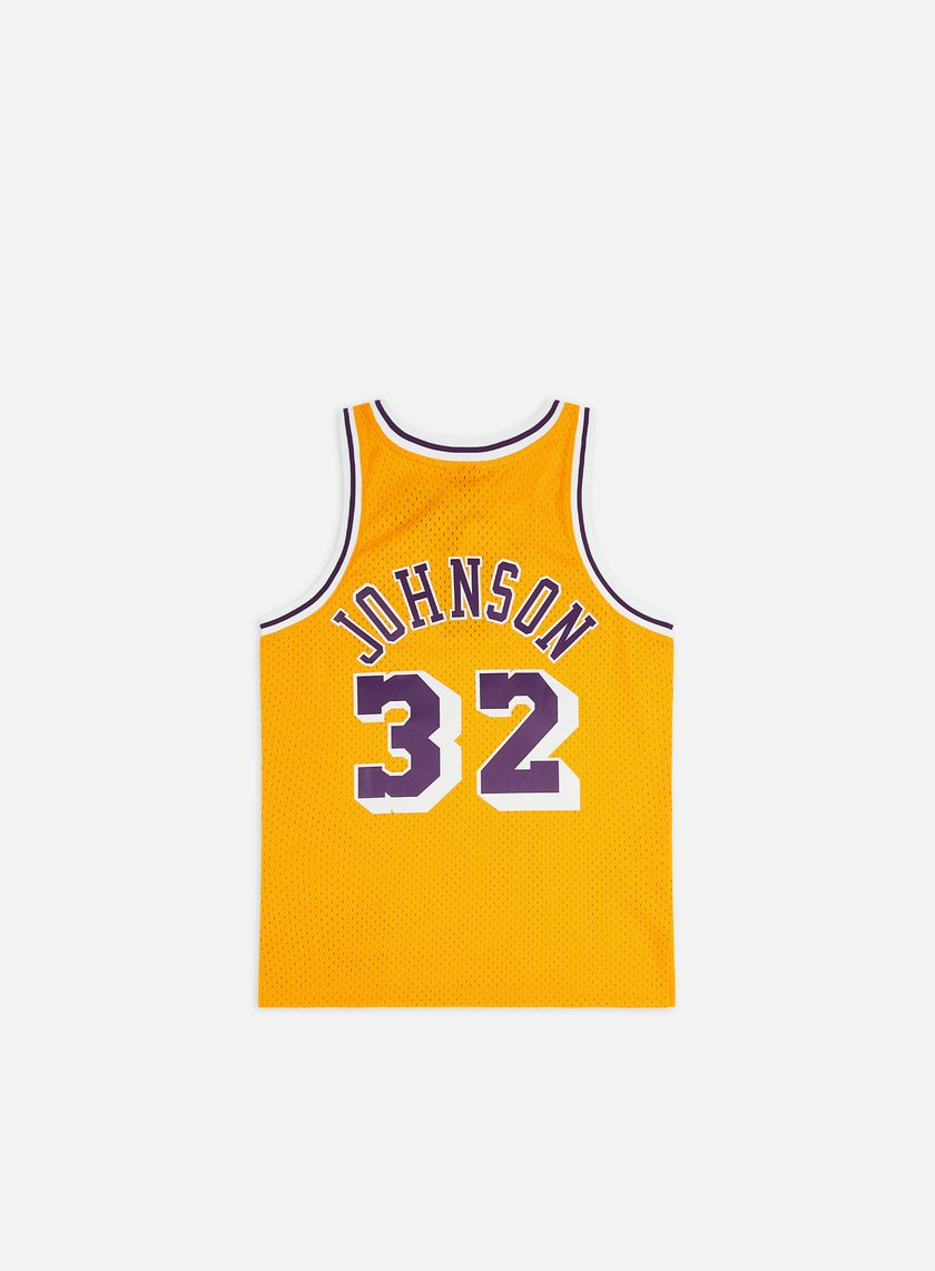 new style cbde2 a0937 LA Lakers Swingman Jersey Magic Johnson