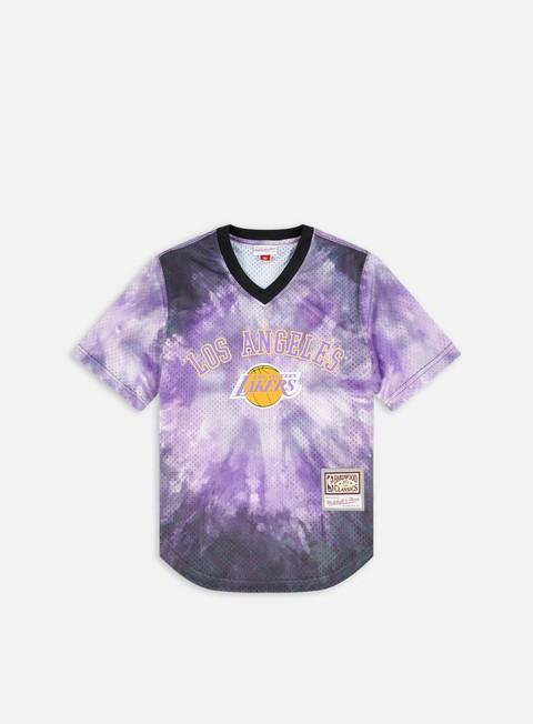 Short sleeve T-shirts Mitchell & Ness LA Lakers Tie-Dye Mesh Jersey T-shirt
