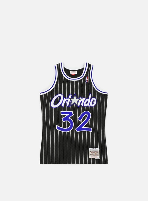 t shirt mitchell e ness orlando magic swingman jersey shaquille o neal royal white