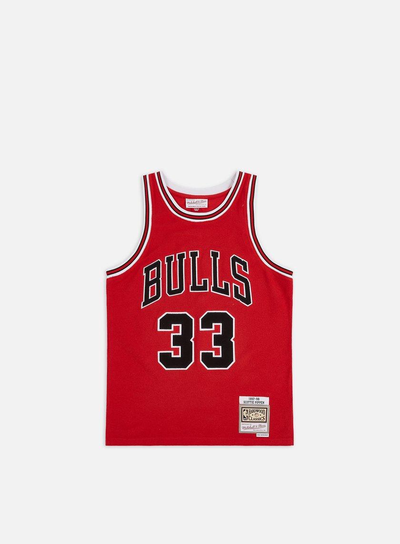 Mitchell & Ness Reversed Fleece Swingman Pippen Jersey Chicago Bulls