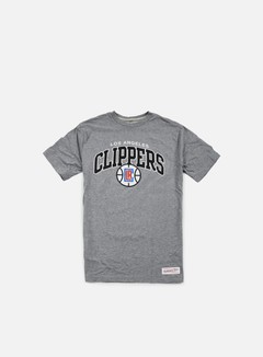 Mitchell & Ness - Team Arch Tailored T-shirt LA Clippers, Grey Heather 1
