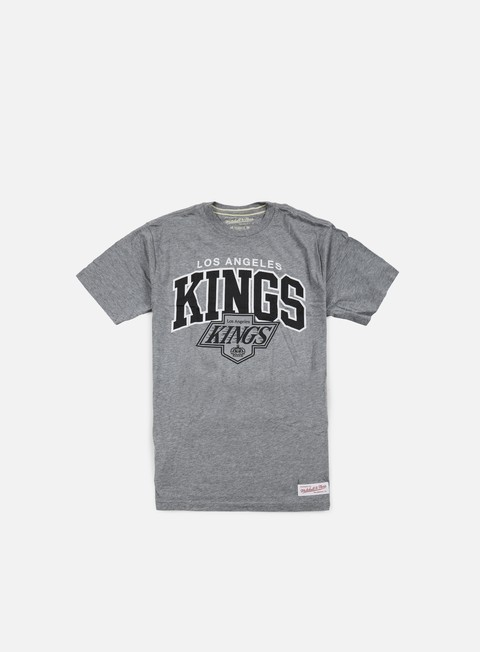 t shirt mitchell e ness team arch tailored t shirt la kings grey heather