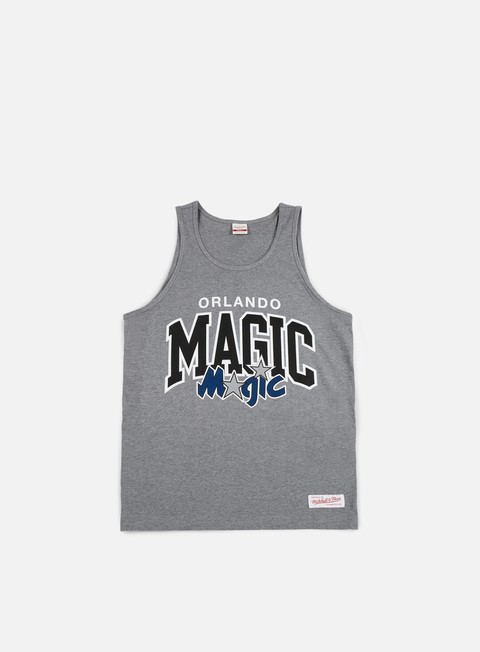 t shirt mitchell e ness team arch tank top orlando magic grey heather