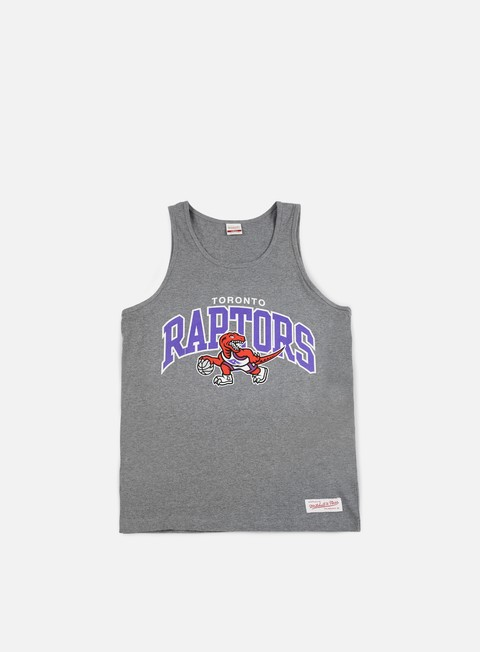 Outlet e Saldi Canotte Mitchell & Ness Team Arch Tank Top Toronto Raptors