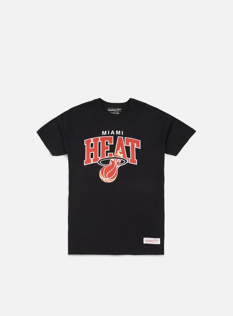 t shirt mitchell e ness team arch traditional t shirt miami heat black