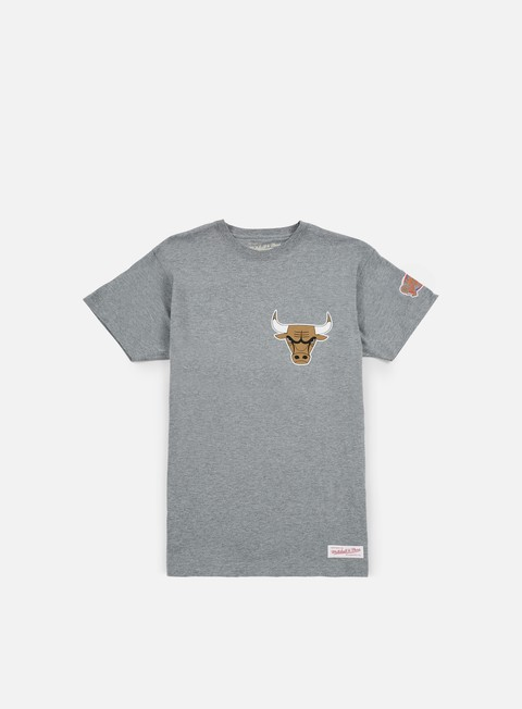 t shirt mitchell e ness team history traditional t shirt chicago bulls grey