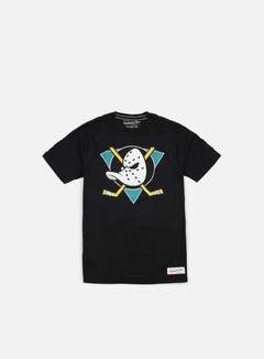Mitchell & Ness - Team Logo Tailored T-shirt Anaheim Ducks, Black 1