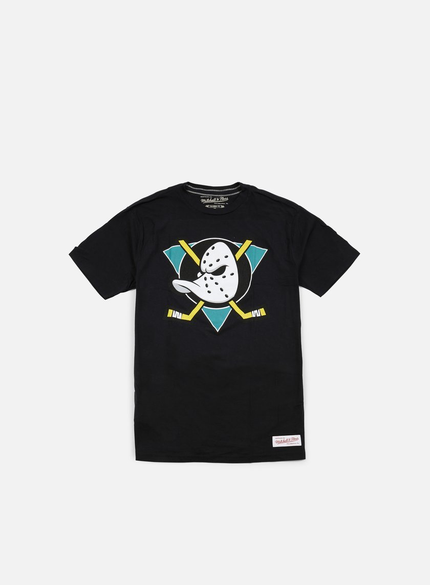 Mitchell & Ness - Team Logo Tailored T-shirt Anaheim Ducks, Black