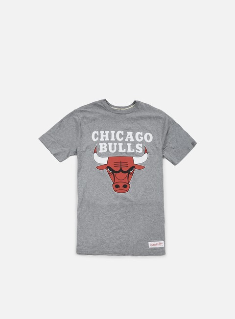 t shirt mitchell e ness team logo tailored t shirt chicago bulls grey heather