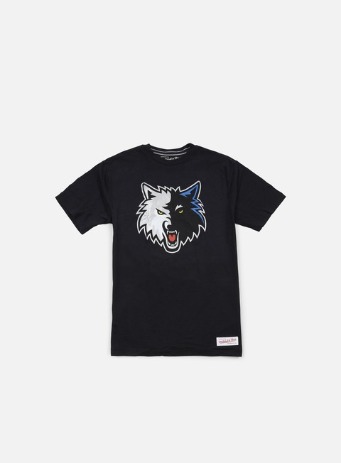 t shirt mitchell e ness team logo tailored t shirt minnesota timberwolves black