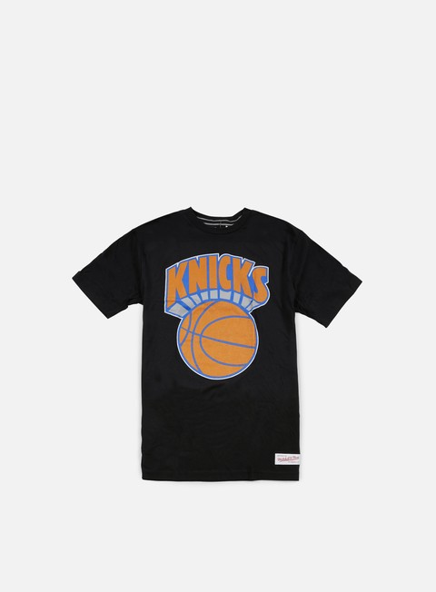 t shirt mitchell e ness team logo tailored t shirt ny knicks black