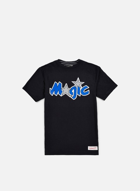 t shirt mitchell e ness team logo tailored t shirt orlando magic black