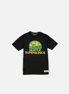 Mitchell & Ness - Team Logo Tailored T-shirt Seattle Supersonics, Black 1