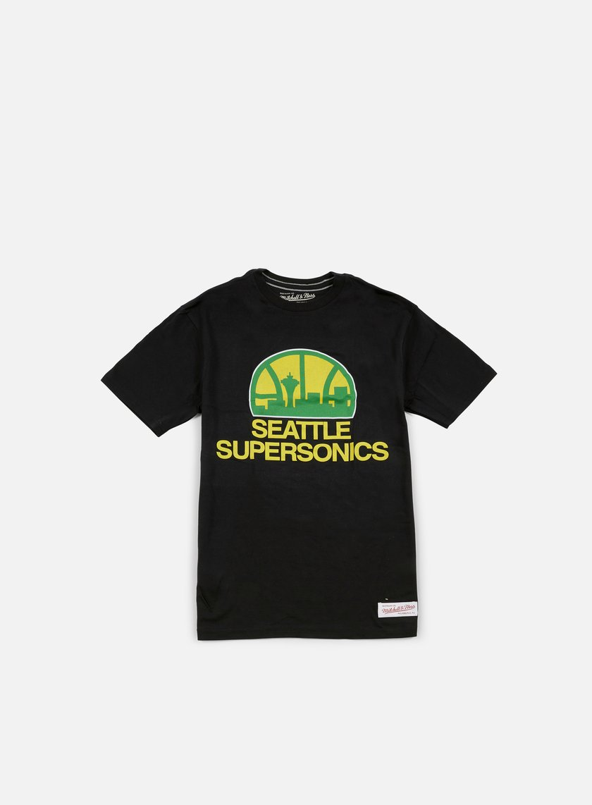 Mitchell & Ness - Team Logo Tailored T-shirt Seattle Supersonics, Black