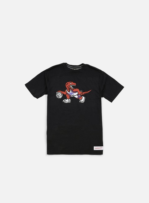 t shirt mitchell e ness team logo tailored t shirt toronto raptors black