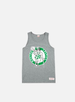 Mitchell & Ness - Team Logo Tank Top Boston Celtics, Grey 1