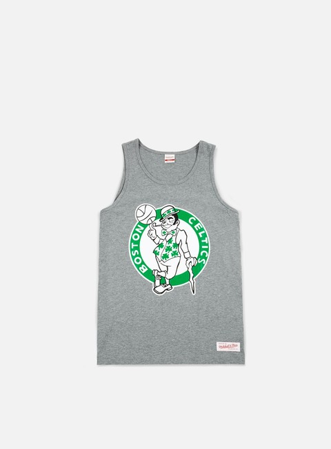 t shirt mitchell e ness team logo tank top boston celtics grey