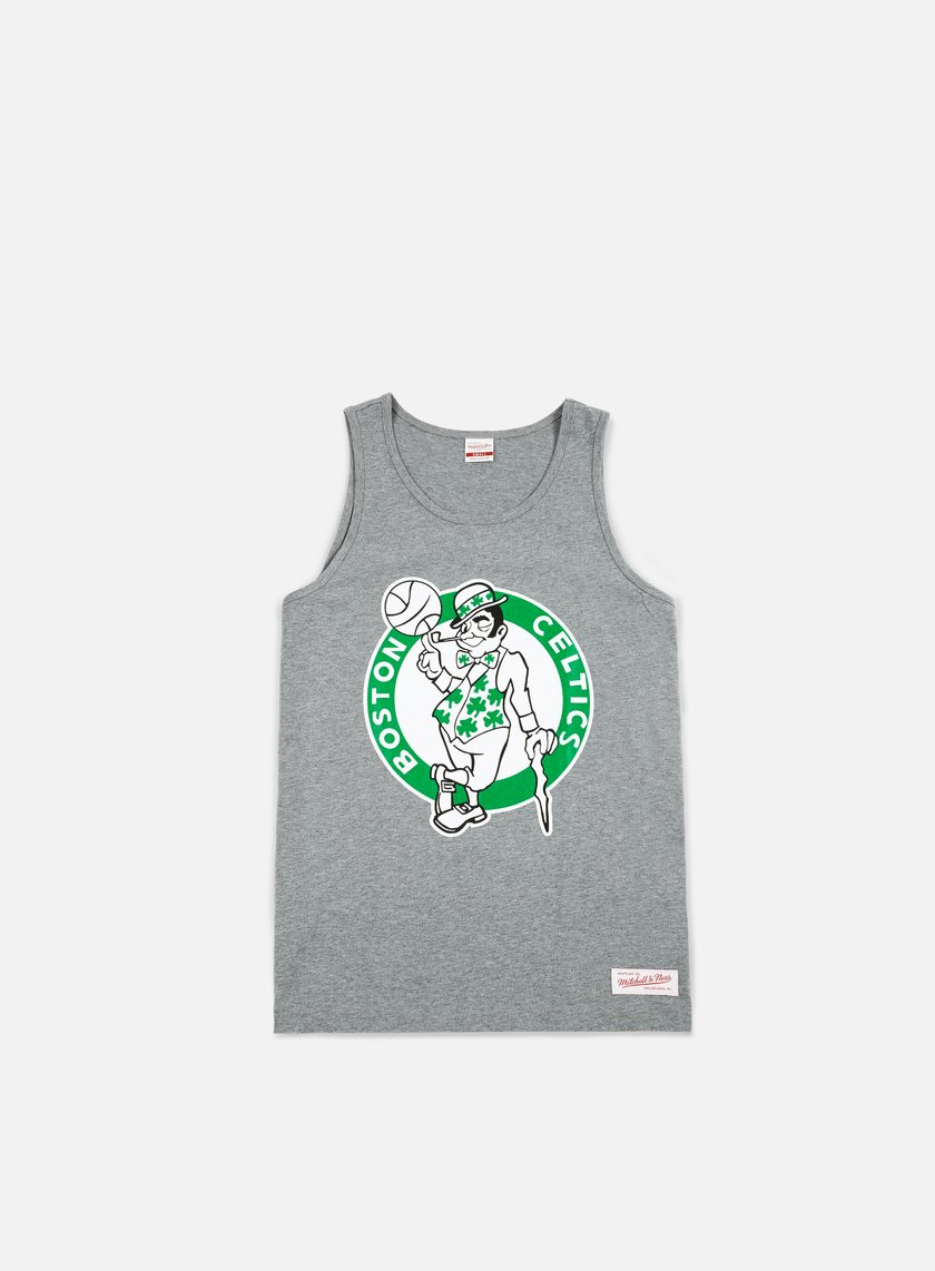 Mitchell & Ness - Team Logo Tank Top Boston Celtics, Grey