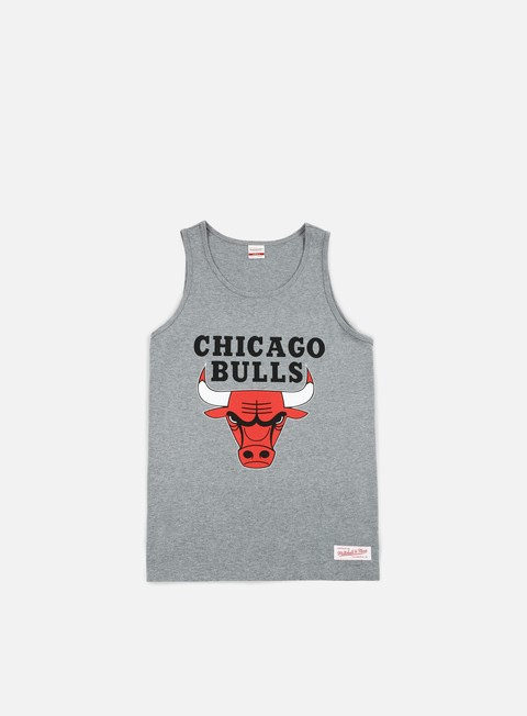 t shirt mitchell e ness team logo tank top chicago bulls grey