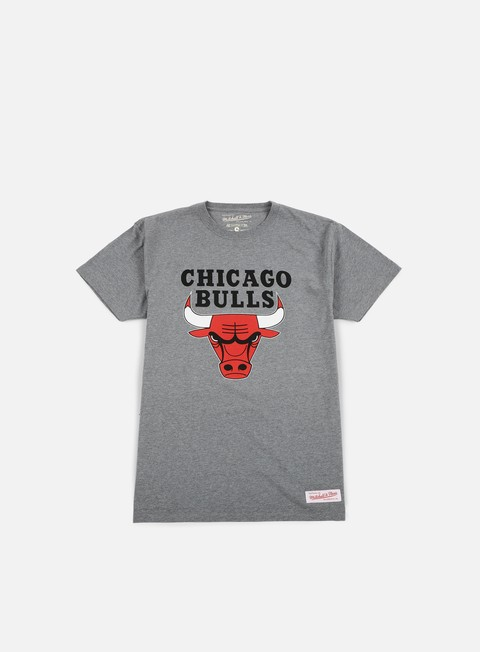 t shirt mitchell e ness team logo traditional t shirt chicago bulls grey