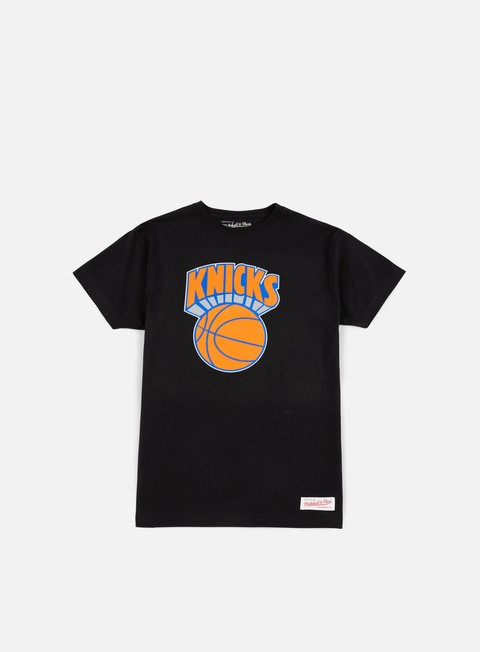 t shirt mitchell e ness team logo traditional t shirt new york knicks black