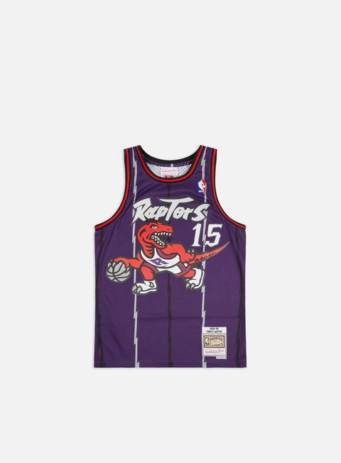 t shirt mitchell e ness toronto raptors swingman jersey vince carter purple red