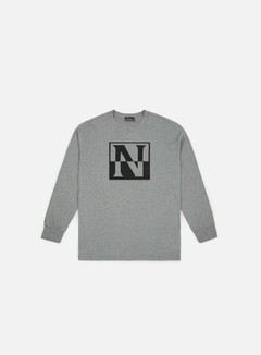 Napapijri - Sambuci LS T-shirt,  Medium Grey Melange