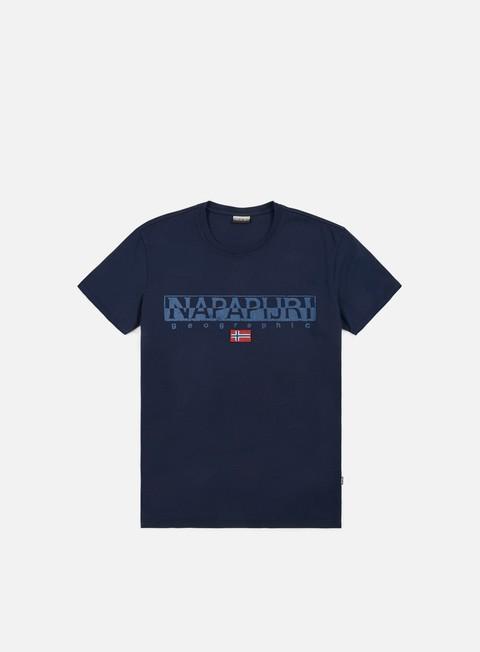 t shirt napapijri sapriol t shirt blu marine