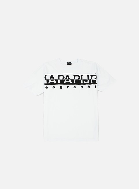 t shirt napapijri saumur t shirt bright white
