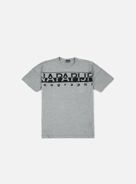Napapijri - Saumur T-shirt, Medium Grey Melange
