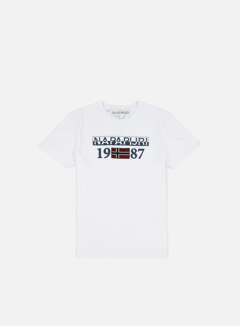 t shirt napapijri solin t shirt bright white
