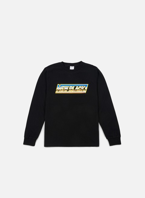 t shirt new black chrome ls t shirt black