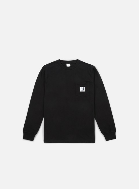 t shirt new black pocket ls t shirt black