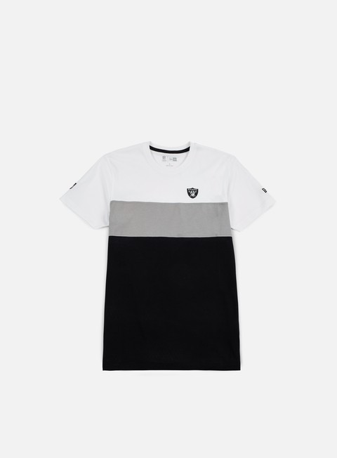 t shirt new era border edge ii panel t shirt oakland raiders white