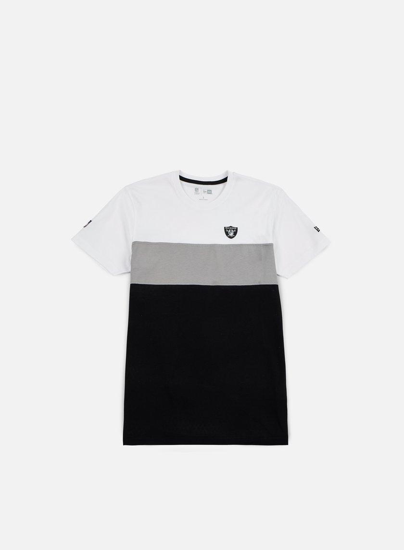 New Era - Border Edge II Panel T-shirt Oakland Raiders, White
