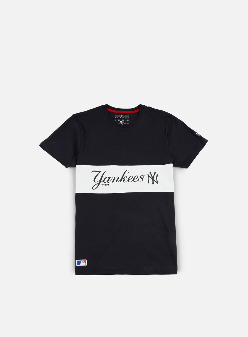 New Era - Border Edge Panel T-shirt NY Yankees, Navy