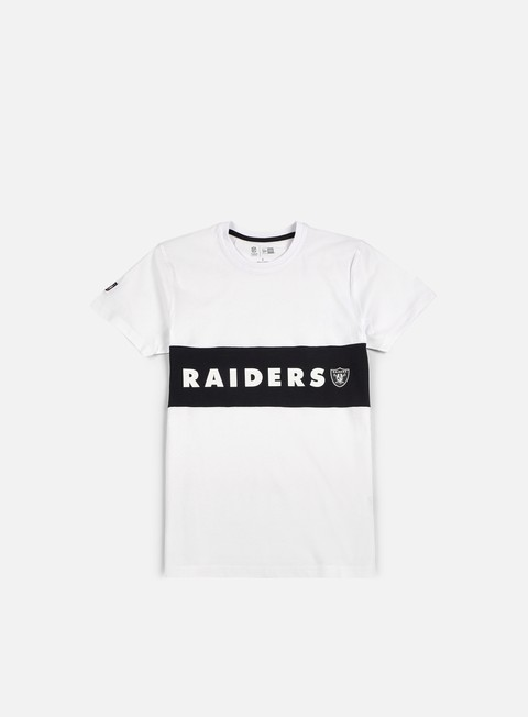t shirt new era border edge panel t shirt oakland raiders white