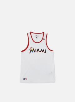 New Era - Diamond Era Tank Miami Marlins, White 1