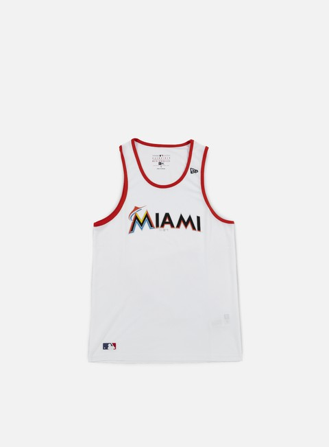 t shirt new era diamond era tank miami marlins white