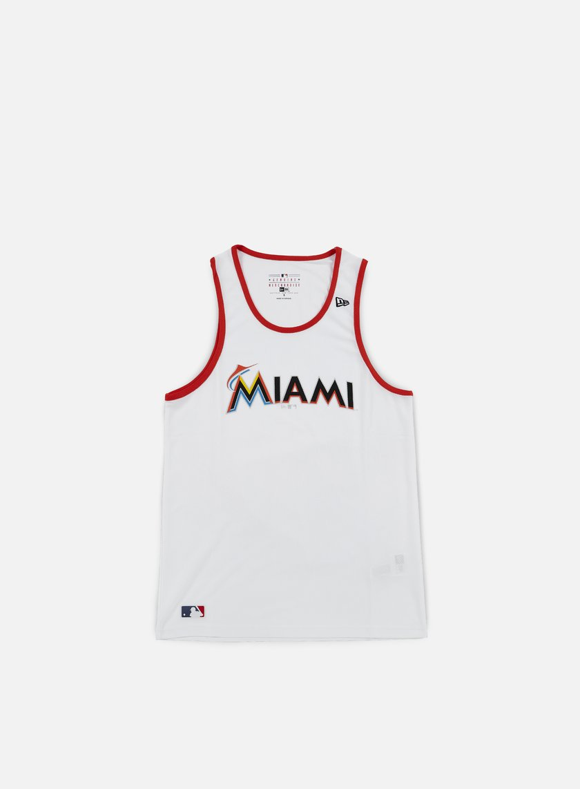 New Era - Diamond Era Tank Miami Marlins, White